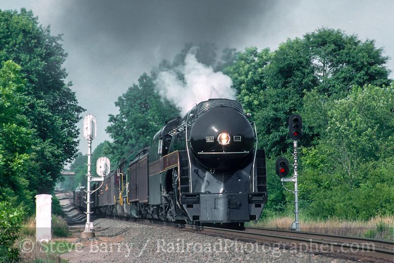 Photo 5116<br /> Norfolk & Western 611<br /> Oakwood, Georgia<br /> June 1994