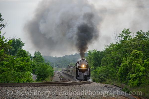 Photo 3805 Norfolk & Western 611; Happy Creek, Virginia June 5, 2016
