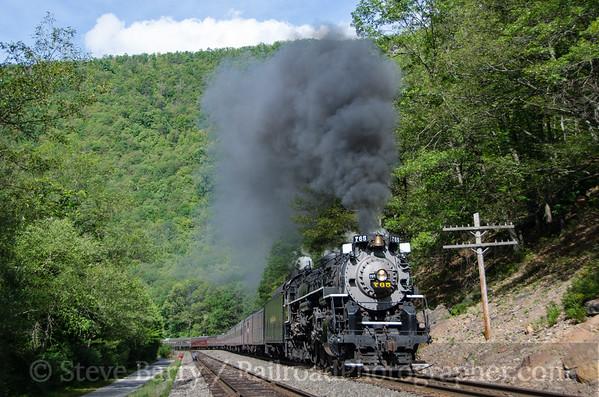 Photo 3467 Nickel Plate Road 765; Glen Onoko, Jim Thorpe, Pennsylvania August 23, 2015