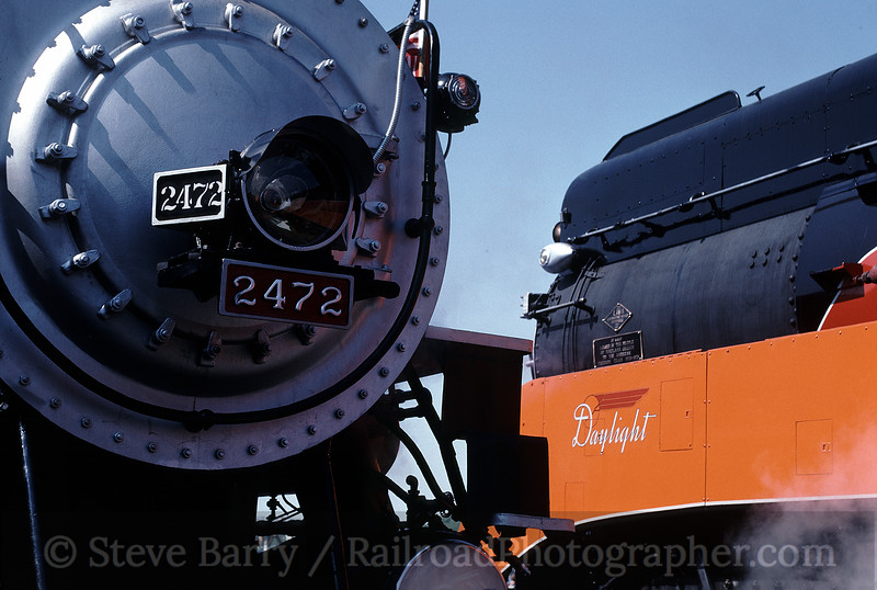 Photo 0809<br /> Southern Pacific 2472 and 4449<br /> Sacramento, California<br /> May 1991