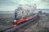 Photo 2965<br /> Southern Pacific 4449; Klamath Falls, Oregon<br /> May 1991