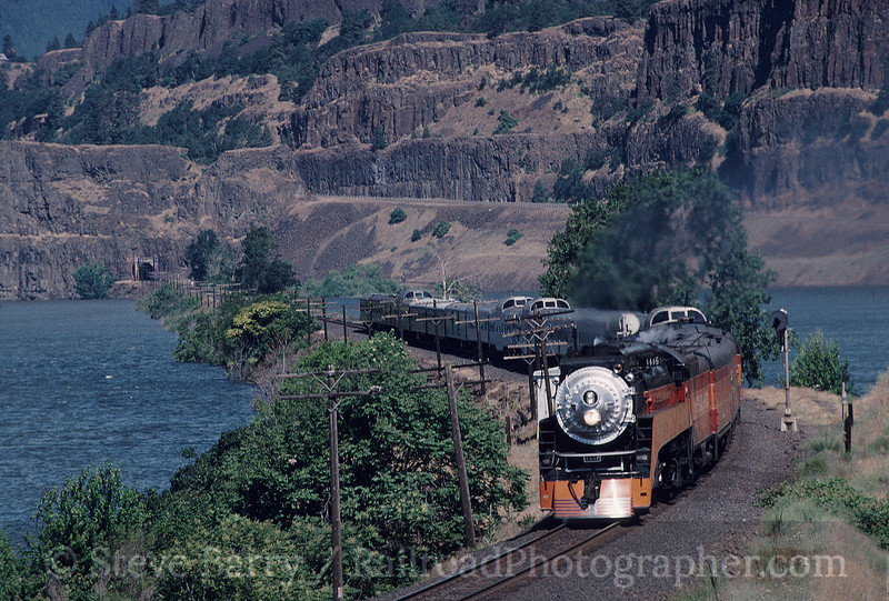 Photo 0485<br /> Southern Pacific 4449<br /> Lyle, Washington<br /> June 14, 1997