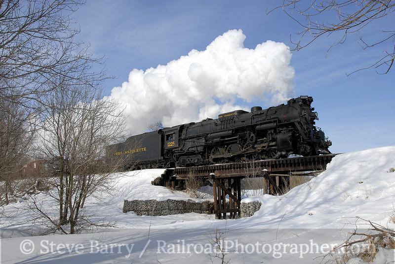 Photo 1095<br /> Pere Marquette 1225; Carland, Michigan<br /> February 16, 2008