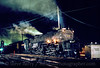 """Photo 2843<br /> """"Clinchfield 676"""" (Union Pacific 3985); Kingsport, Tennessee<br /> November 1992"""