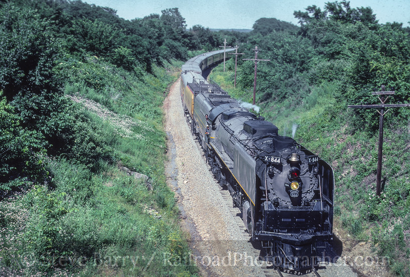 Photo 5407<br /> Union Pacific 844<br /> Otterville, Missouri<br /> June 1990