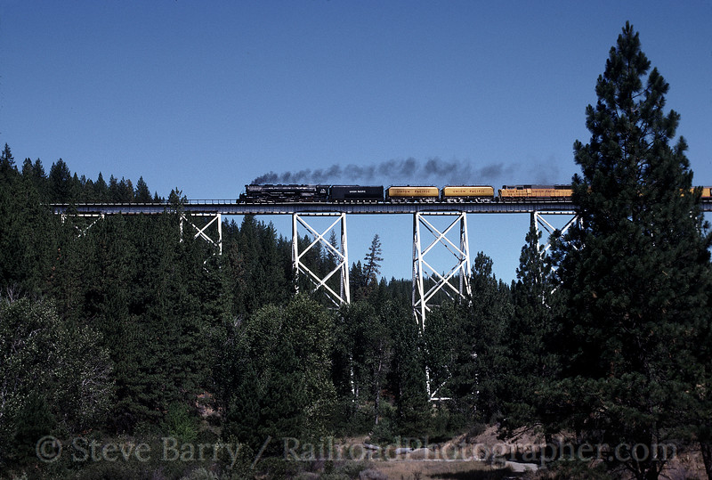 Photo 0701<br /> Union Pacific 3985<br /> Clio, California<br /> August 18, 1992