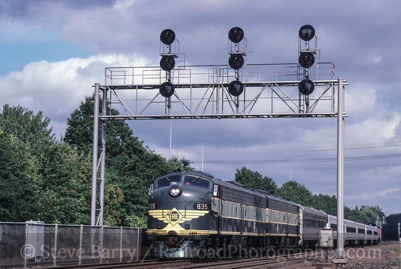 Photo 2714<br /> Erie Railroad 835; Suffern, New York<br /> September 19, 1998
