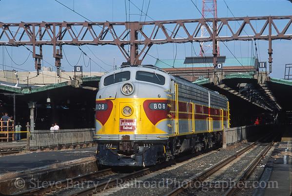 Photo 3593 Delaware, Lackawanna & Western 808; Hoboken, New Jersey September 8, 2001