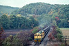 Photo 4737<br /> Reading, Blue Mountain & Northern<br /> Molino, Pennsylvania<br /> October 1988