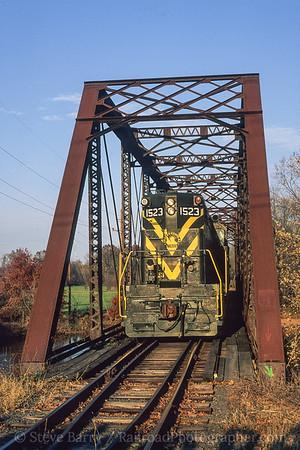 Photo 3778 Black River & Western; Flemington, New Jersey November 1999
