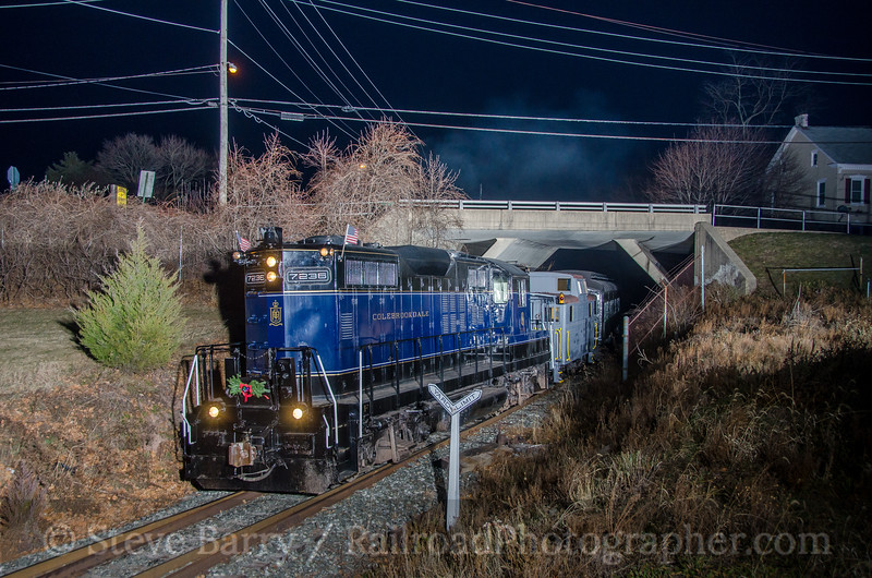 Photo 4021<br /> Colebrookdale Railroad; Boyertown, Pennsylvania<br /> December 23, 2016