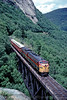 Photo 0194<br /> Conway Scenic; Willey Brook Trestle, Crawford Notch, New Hampshire<br /> July 9, 1996