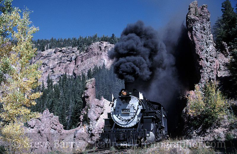 Photo 0602<br /> Cumbres & Toltec Scenic<br /> Phantom Curve, New Mexico<br /> September 27, 1999