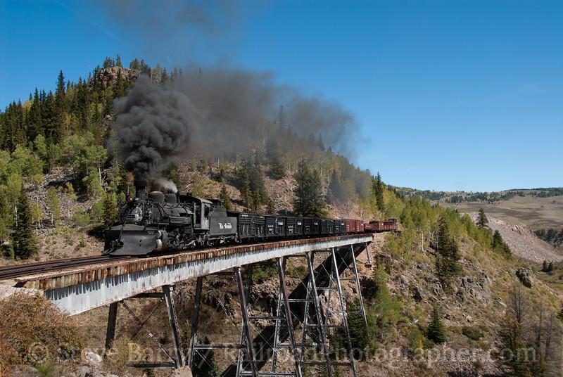 Photo 2230<br /> Cumbres & Toltec Scenic; Cascade Trestle, Osier, Colorado<br /> September 22, 2011