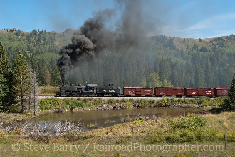 Photo 2238<br /> Cumbres & Toltec Scenic; Perry's Pond, Cumbres, Colorado<br /> September 21, 2011