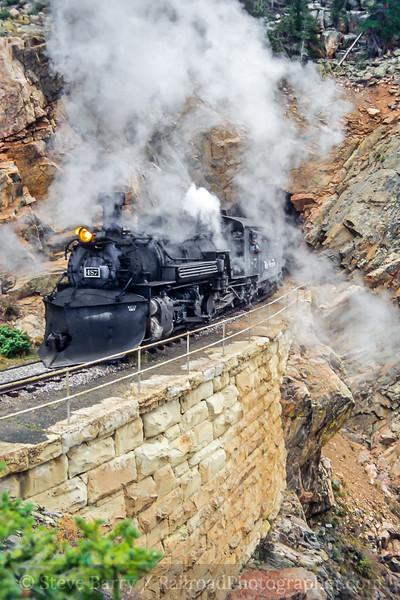 Photo 5050<br /> Cumbres & Toltec Scenic<br /> Rock Tunnel, Toltec Gorge, New Mexico<br /> October 2003