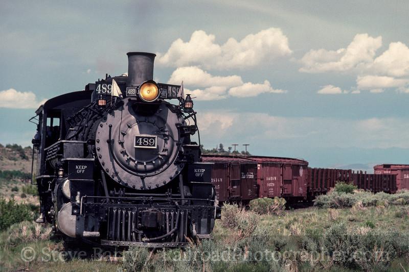 Photo 3013<br /> Cumbres & Toltec Scenic; Antonito, Colorado<br /> June 1988
