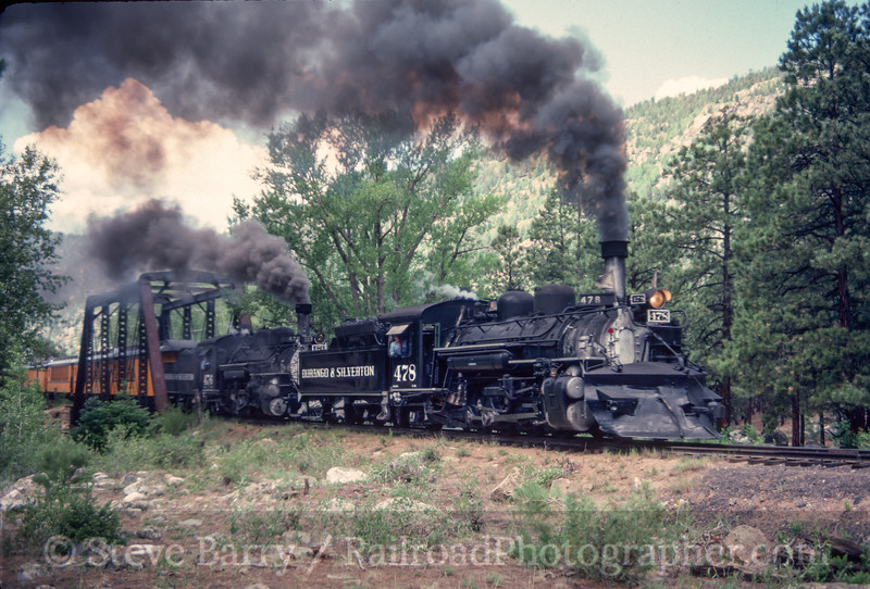 Photo 2962<br /> Durango & Silverton Narrow Gauge; Cascade, Colorado<br /> June 1988