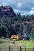 Photo 2912<br /> Durango & Silverton Narrow Gauge; Rockwood, Colorado<br /> July 1982