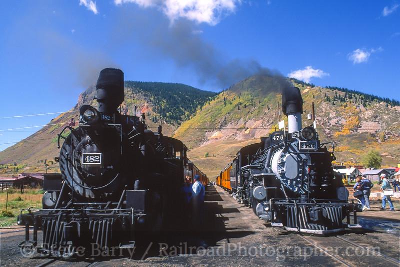 Photo 4158<br /> Durango & Silverton Narrow Gauge; Silverton, Colorado<br /> September 1999