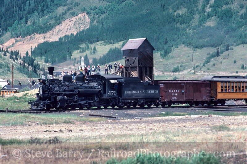 Photo 2979<br /> Durango & Silverton Narrow Gauge; Silverton, Colorado<br /> July 1982