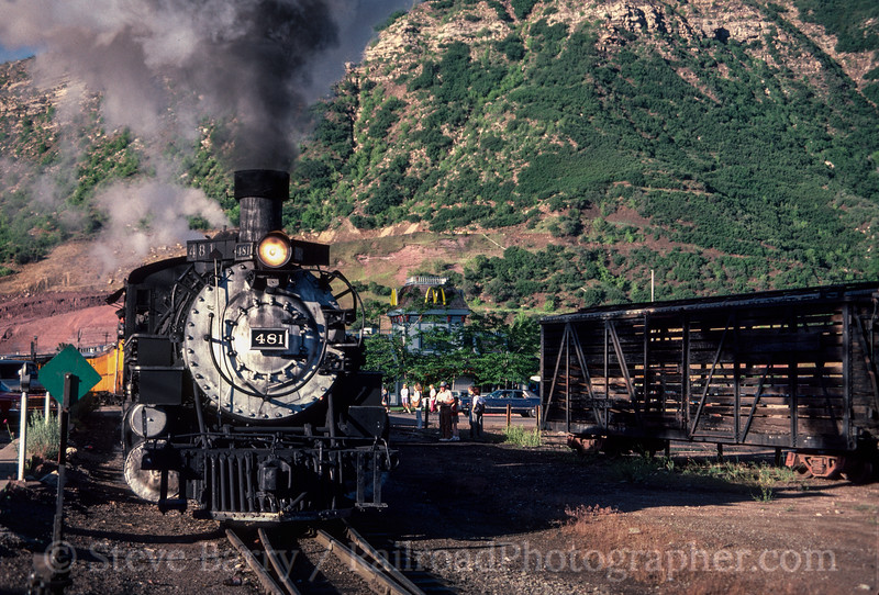 Photo 2908<br /> Durango &amp; Silverton Narrow Gauge; Durango, Colorado<br /> June 1988
