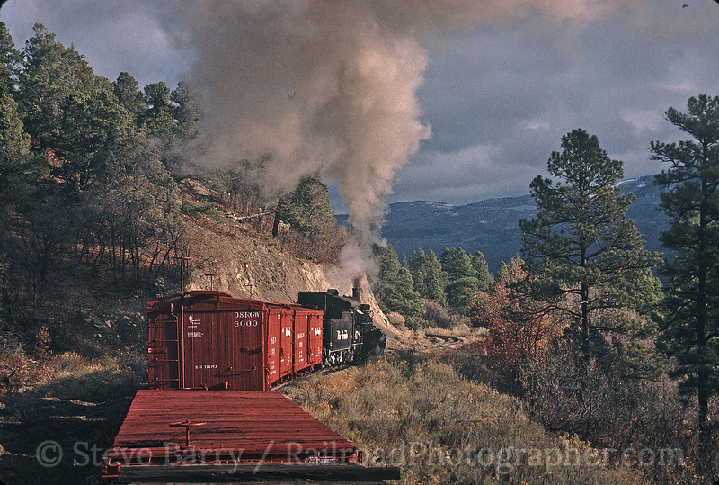 Photo 0252<br /> Durango & Silverton Narrow Gauge; Rockwood, Colorado<br /> December 1998