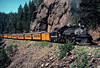 Photo 2911<br /> Durango & Silverton Narrow Gauge; Rockwood, Colorado<br /> July 1982