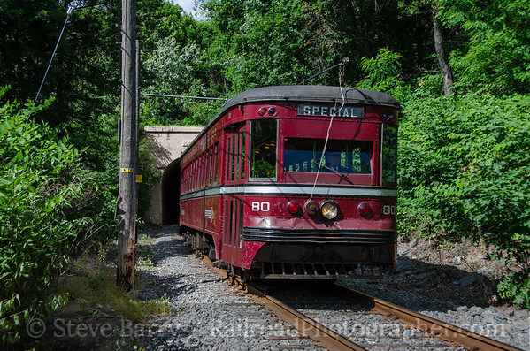 Photo 3809 Electric City Trolley Museum; Crown Avenue Tunnel, Scranton, Pennsylvania June 9, 2016