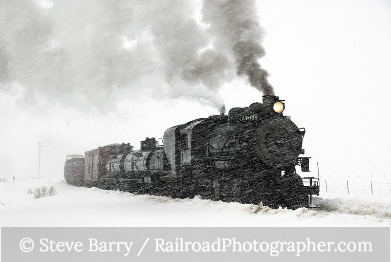 Photo 1099<br /> Oregon Short Line 1068; Charleston, Utah<br /> February 13, 2008
