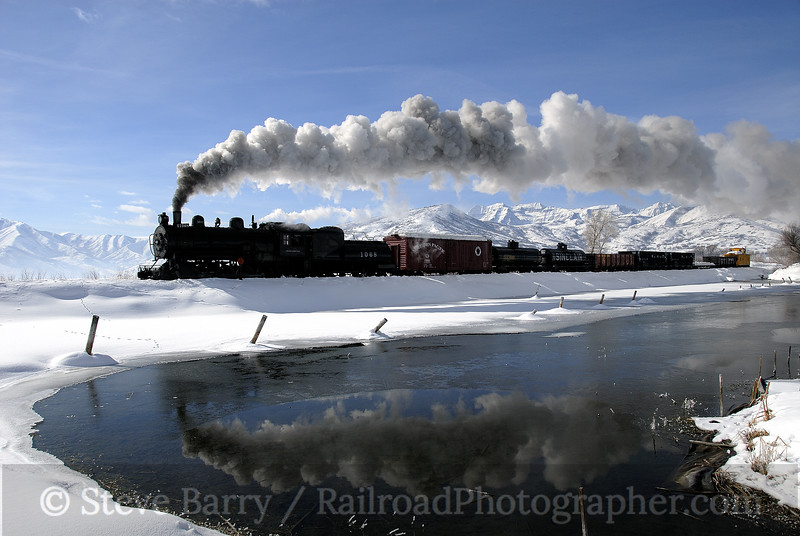 Photo 1097<br /> Oregon Short Line 1068; Soldier Hollow, Utah<br /> February 12, 2008