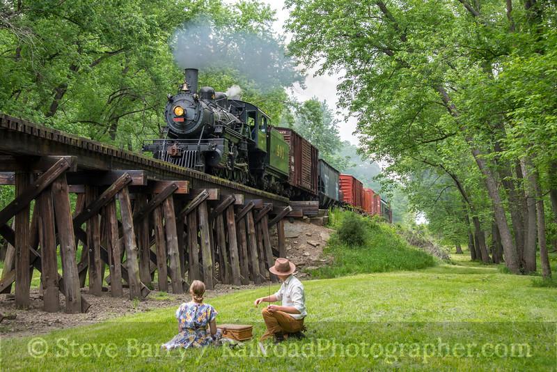 Photo 4682<br /> Monticello Railway Museum<br /> Camp Creek, Monticello, Illinois<br /> May 18, 2018