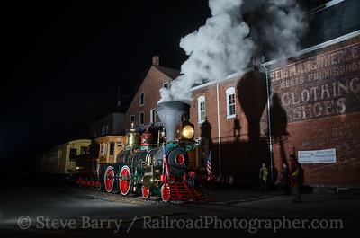 Photo 3225 Steam Into History; Glen Rock, Pennsylvania November 16, 2013