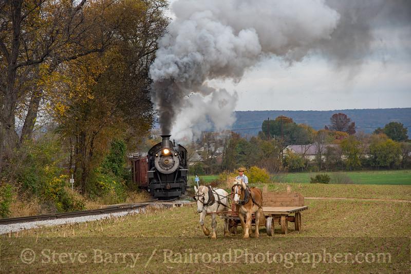 Photo 4401<br /> Strasburg Rail Road<br /> Paradise, Pennsylvania<br /> November 6, 2017