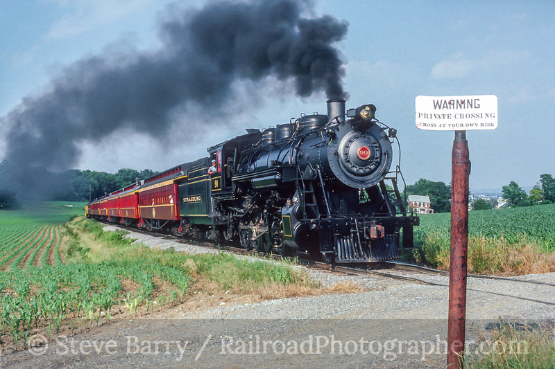 Photo 5444<br /> Strasburg Rail Road<br /> Paradise, Pennsylvania<br /> August 1989