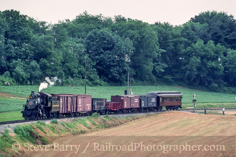 Photo 5482<br /> Strasburg Rail Road<br /> Cherry Hill, Strasburg, Pennsylvania<br /> June 1995