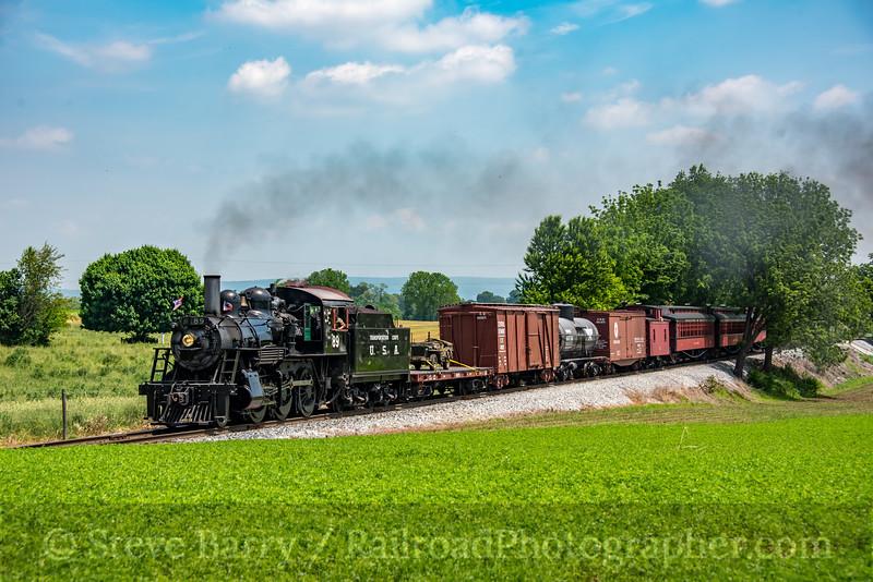 Photo 4692<br /> Strasburg Rail Road<br /> Paradise, Pennsylvania<br /> May 26, 2018