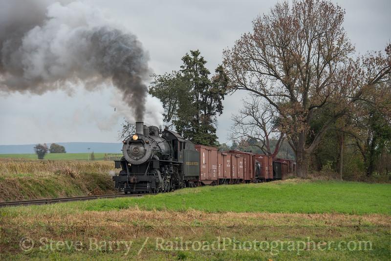 Photo 4385<br /> Strasburg Rail Road<br /> Strasburg, Pennsylvania<br /> October 23, 2017
