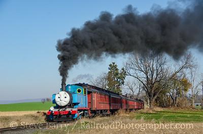 Photo 4004 Thomas the Tank Engine; Strasburg, Pennsylvania November 18, 2016