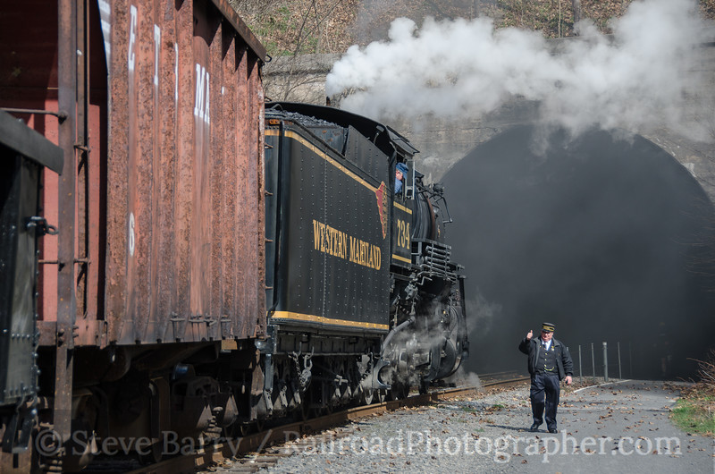 Photo 3721<br /> Western Maryland Scenic; Brush Tunnel, Corriganville, Maryland<br /> April 2, 2016
