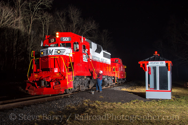 Photo 4583<br /> Western Maryland Scenic<br /> Mountain View, Mount Savage, Maryland<br /> February 24, 2017