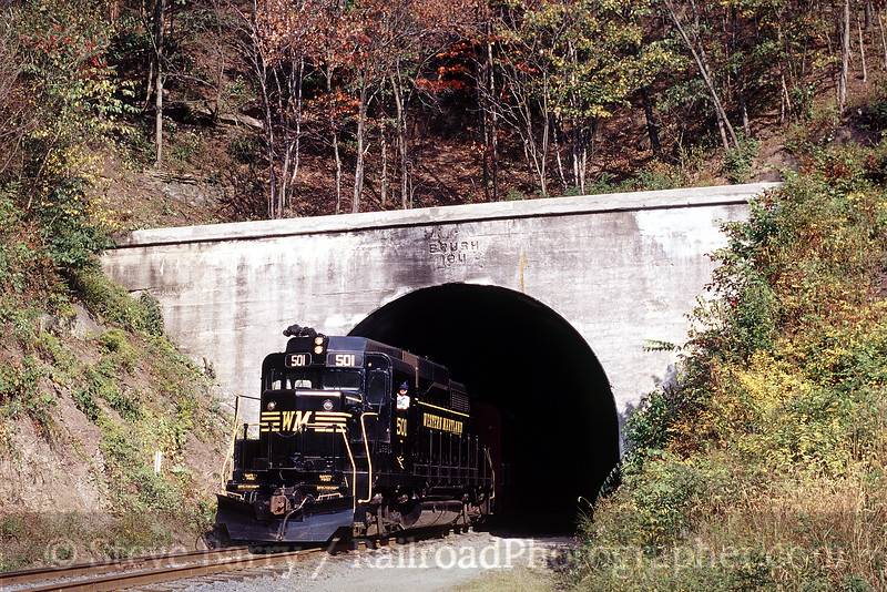 Photo 1246<br /> Western Maryland Scenic; Brush Tunnel, Cumberland, Maryland<br /> September 2001