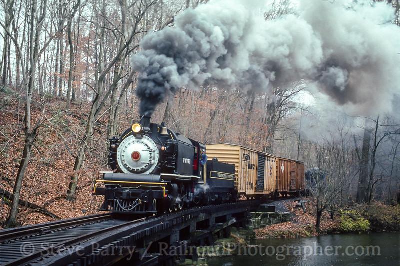 Photo 5127<br /> Wilmington & Western<br /> Mount Cuba, Delaware<br /> November 1990