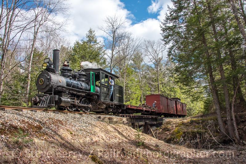 Photo 4646<br /> Wiscasset, Waterville & Farmington<br /> Alna, Maine<br /> April 21, 2018