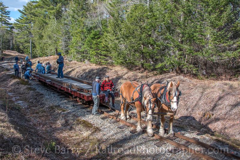 Photo 4647<br /> Wiscasset, Waterville & Farmington<br /> Alna, Maine<br /> April 21, 2018