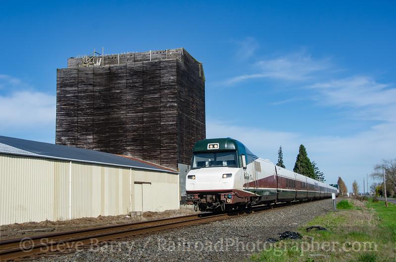 Photo 4051<br /> Amtrak; Halsey, Oregon<br /> March 19, 2017