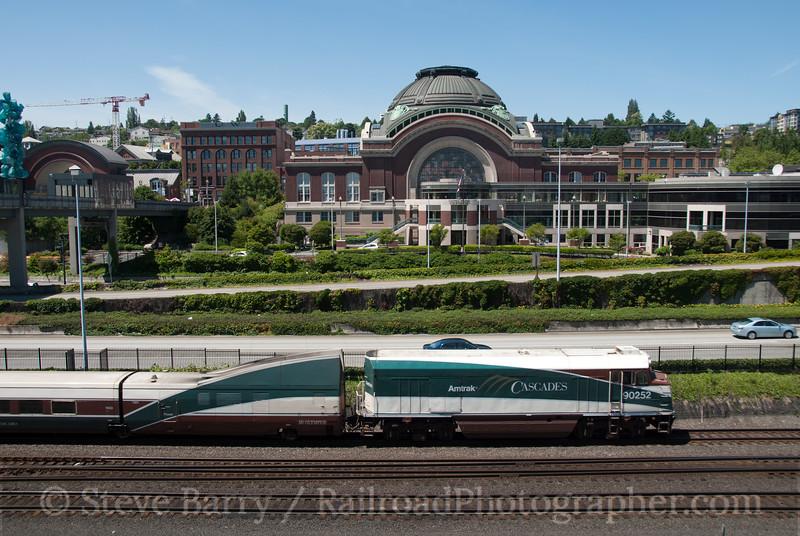 Photo 2135<br /> Amtrak; Tacoma Union Station, Tacoma, Washington<br /> June 26, 2011