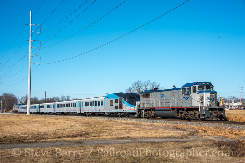 Photo 4548<br /> Amtrak<br /> Newark, Delaware<br /> January 25, 2018