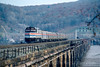 Photo 5091<br /> Amtrak<br /> Rockville Bridge, Marysville, Pennsylvania<br /> December 1988