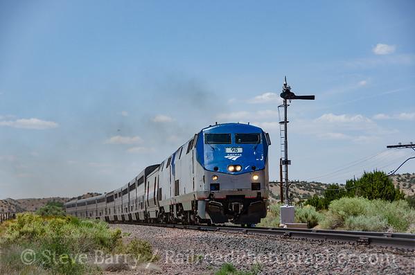 Photo 3882 Amtrak; Los Cerrillos, New Mexico July 16, 2016